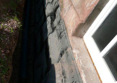 Svislé izolace s odkopáním